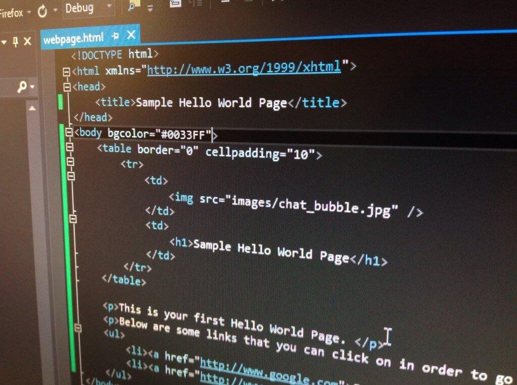 Basic HTML Webpage