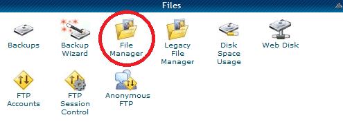 HostGator File Manager