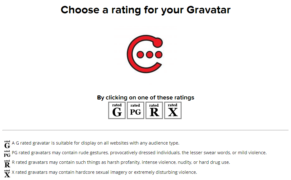 Gravatar Choose Rating