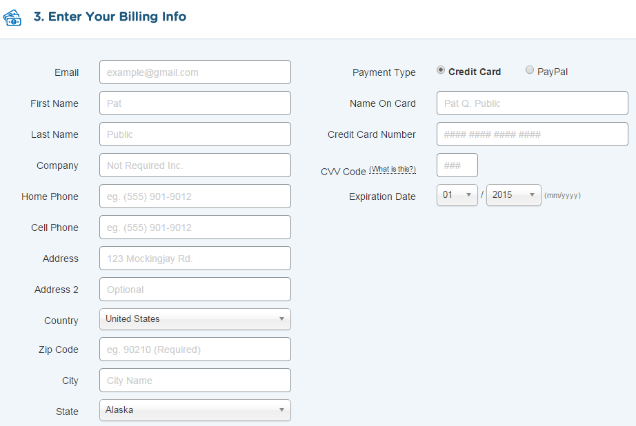 How to Start a Blog - HostGator Hosting Billing Information