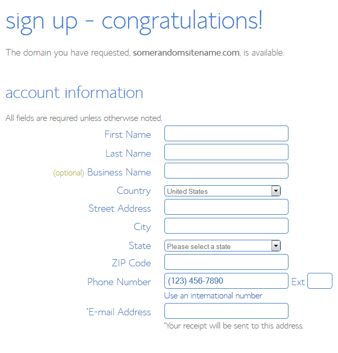 How to Start a Blog Bluehost Account Information