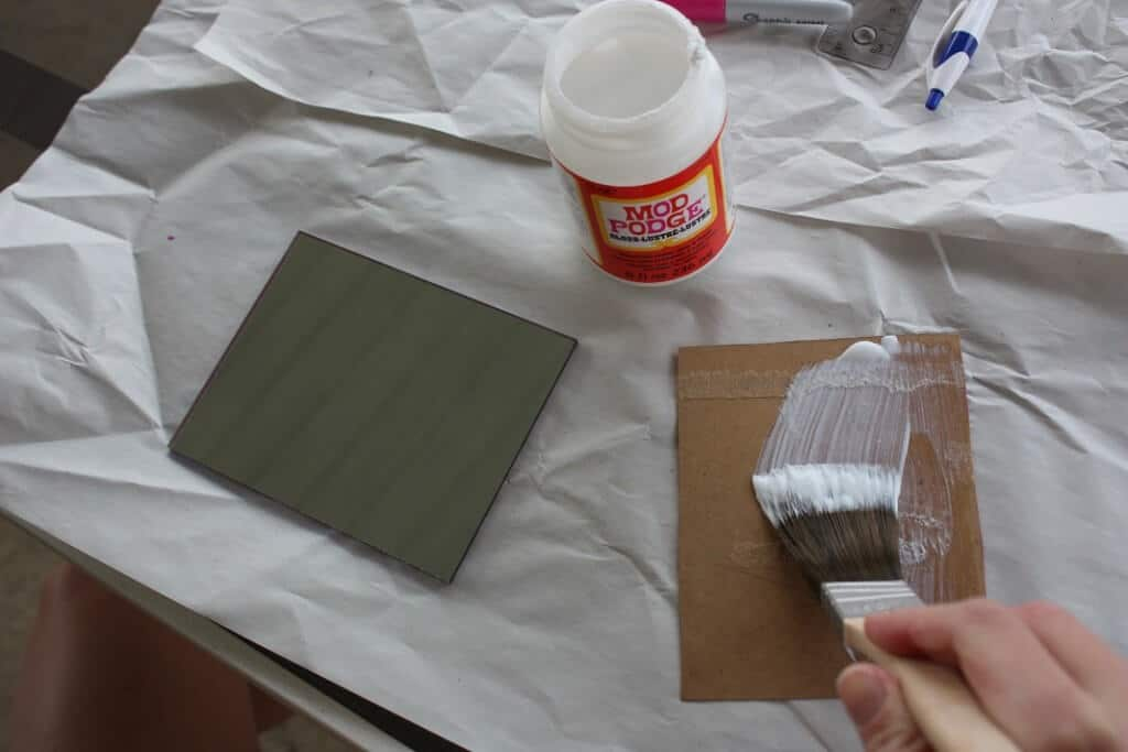 Beer Coasters Project Mod Podge