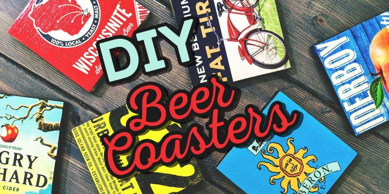 Weekend Projects DIY Beer Coasters